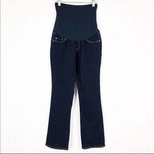 Indigo Blue XS Petite Maternity Bootcut Jeans B04